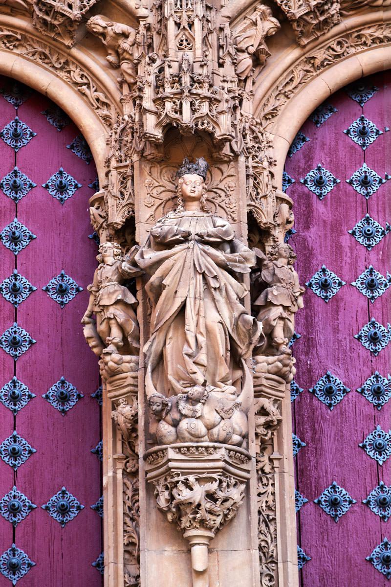 Detalle de la Puerta Catedral de Salamnca