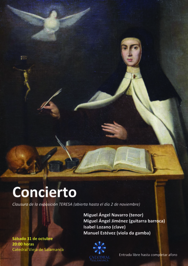 Cartel del concierto de clausura de la exposición Teresa